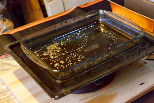 bho jaune dans un plat en pyrex