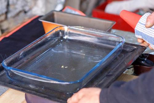 plat en pyrex pour la fabrication du bho