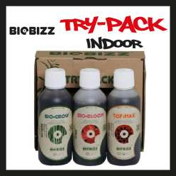 TRY PACK BIOBIZZ INDOOR / BIO GROW + BIO BLOOM + TOP MAX