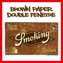 SMOKING BROWN DOUBLE FENETRE NON BLANCHI X 1 UNITÉ