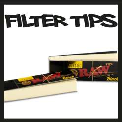 RAW FILTRE CARTON BLACK TIPS X 1