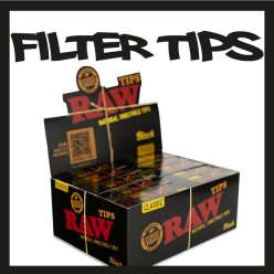 RAW FILTRE CARTON BLACK TIPS X 50